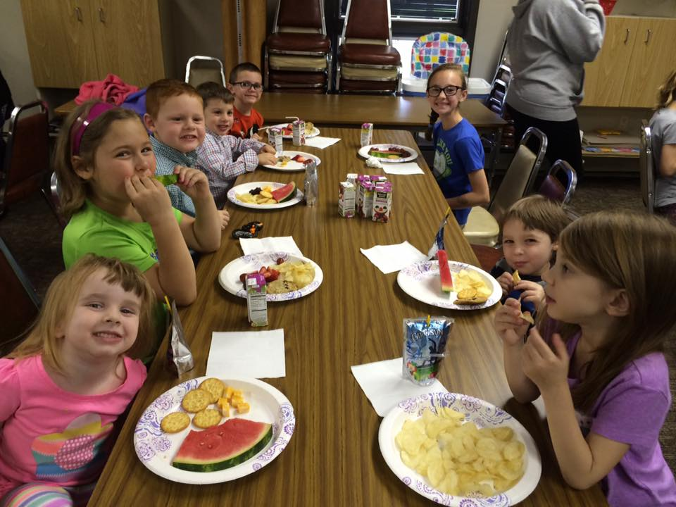 snack time at Sunday school